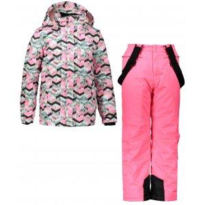 Dětský zimní set ALPINE PRO YLON KOTP024 RŮŽOVÁ