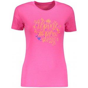 Dámské triko ALPINE PRO UNEGA 6 LTSP505 RŮŽOVÁ