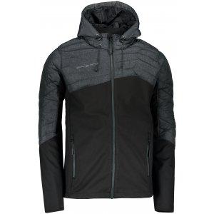 Pánská softshellová bunda ALPINE PRO KINEL MJCP399 ČERNÁ