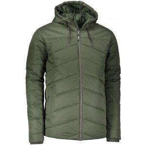 Pánská zimní bunda ALPINE PRO GABRIELL 3 MJCP362 TMAVĚ ZELENÁ