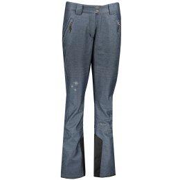 Dámské zimní softshellové kalhoty ALPINE PRO KARIA 4 LPAP373 TMAVĚ MODRÁ