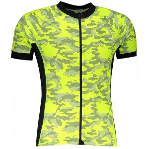 Pánský cyklistický dres ALPINE PRO MARK MTSR461 SVÍTIVĚ ZELENÁ