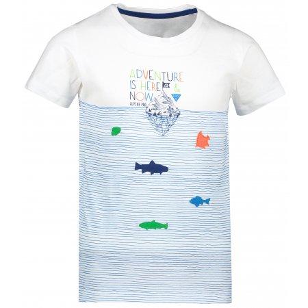Dětské triko ALPINE PRO MARINO KTSR245 BÍLÁ/MODRÁ