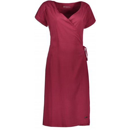 Dámské šaty ALPINE PRO SOLEIA LSKR225 VÍNOVÁ
