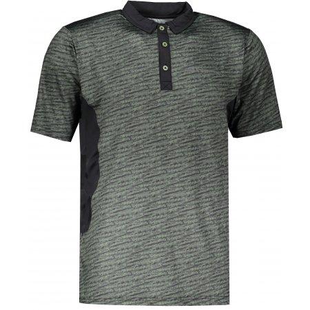 Pánské funkční triko s límečkem ALPINE PRO ISTAS 3 MTSR455 ZELENÁ