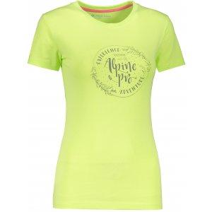 Dámské triko ALPINE PRO UNEGA 7 LTSR573 SVĚTLE ZELENÁ