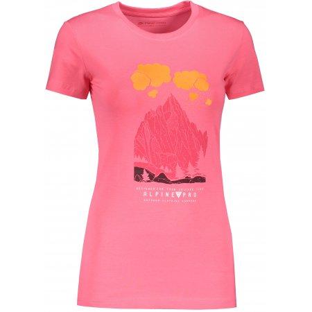 Dámské triko ALPINE PRO UNEGA 7 LTSR573 RŮŽOVÁ