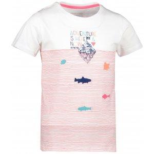 Dětské triko ALPINE PRO MARINO KTSR245 BÍLÁ/RŮŽOVÁ