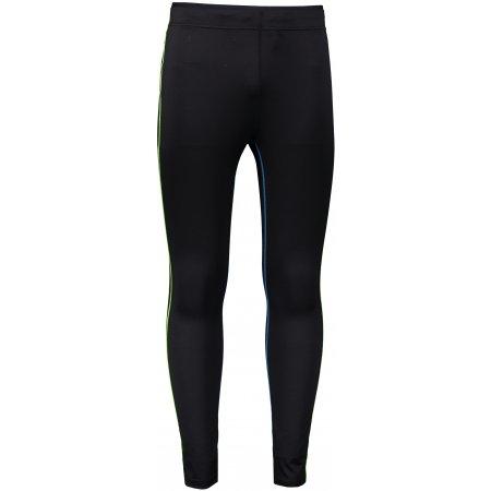 Pánské elastické kalhoty ALPINE PRO TAIP 4 MPAR419 ČERNÁ/ZELENÁ