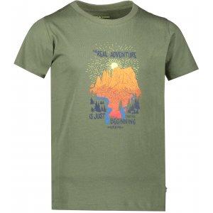 Dětské triko ALPINE PRO MATTERO 2 KTSR239 TMAVĚ ZELENÁ