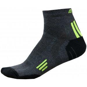 Ponožky ALPINE PRO AXION 3 USCR052 SVÍTIVĚ ZELENÁ