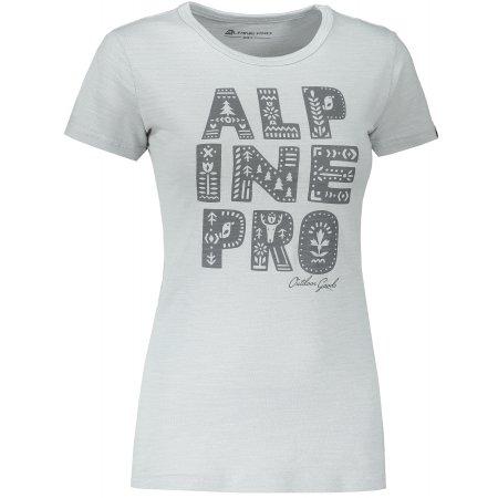 Dámské triko ALPINE PRO ALIANA LTSS665 ŠEDÁ