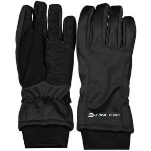 Softshellové rukavice ALPINE PRO KAHUG UGLS006 ČERNÁ