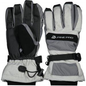 Lyžařské rukavice ALPINE PRO MIRON UGLS012 ŠEDÁ