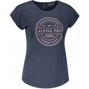 Dámské triko s krátkým rukávem ALPINE PRO MAILA LTSS652 TMAVĚ MODRÁ