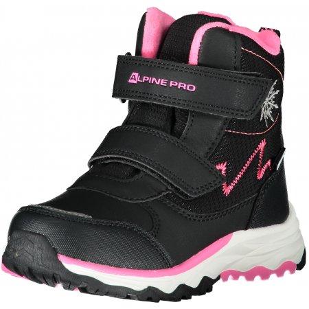 Dětské zimní boty ALPINE PRO MOKOSHO KBTS261 ČERNÁ