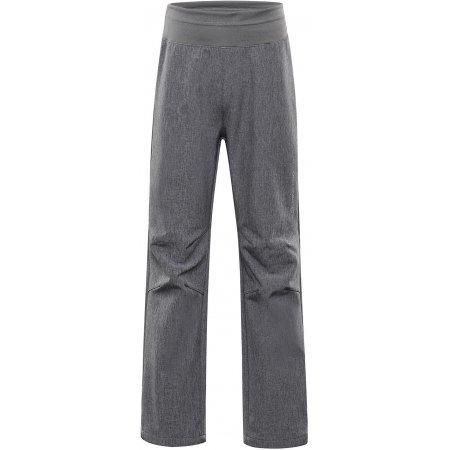 Dětské softshellové kalhoty ALPINE PRO OCIO INS. KPAS072 ŠEDÁ