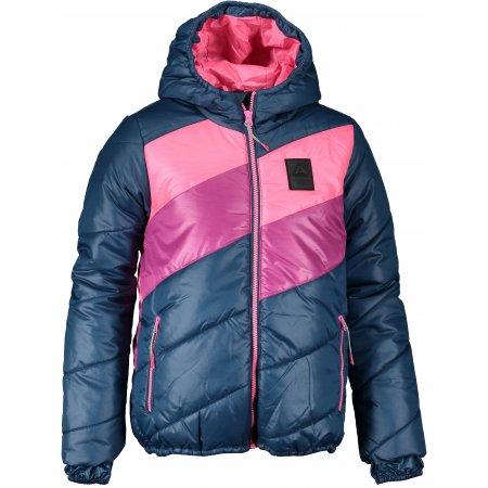 Dětská bunda ALPINE PRO MERIKO KJCS181 MODRÁ/RŮŽOVÁ