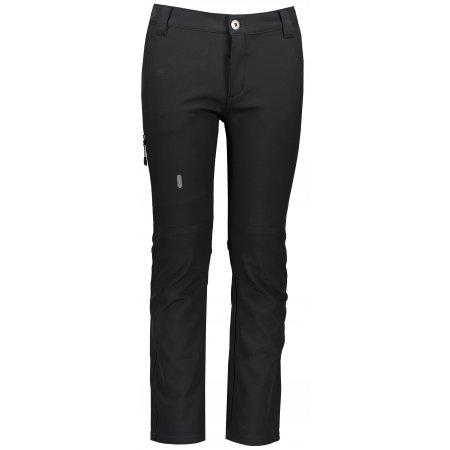 Dětské softshellové kalhoty ALPINE PRO PLATAN 3 INS. KPAS157 ČERNÁ