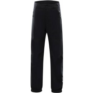 Dětské softshellové kalhoty ALPINE PRO OLWENO KPAS155 ČERNÁ