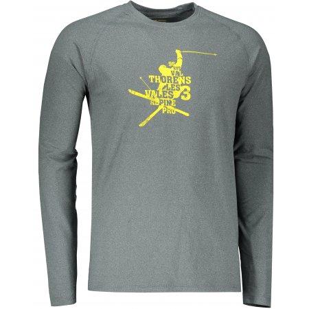 Pánské funkční triko ALPINE PRO TAR 2 MTSS552 TMAVĚ ŠEDÁ