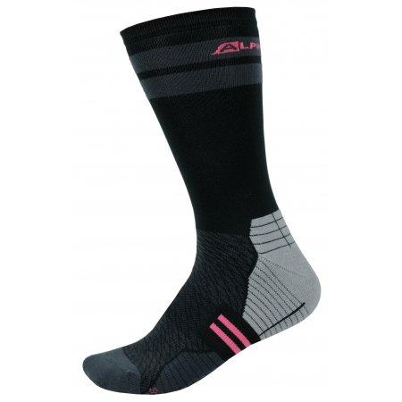 Ponožky ALPINE PRO ADRON 3 USCS051 ČERNÁ/RŮŽOVÁ