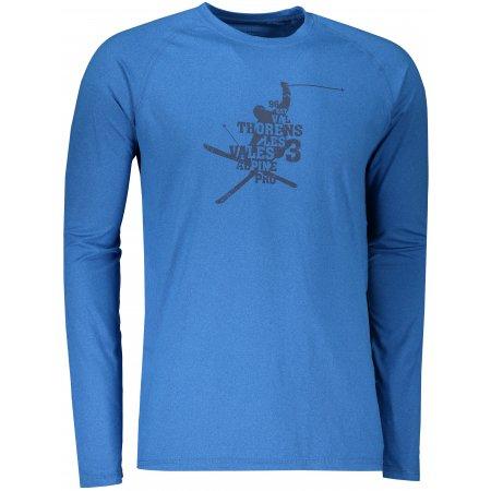 Pánské funkční triko ALPINE PRO TAR 2 MTSS552 MODRÁ VZOR
