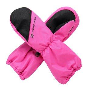 Dětské rukavice ALPINE PRO HANGO KGLS009 RŮŽOVÁ
