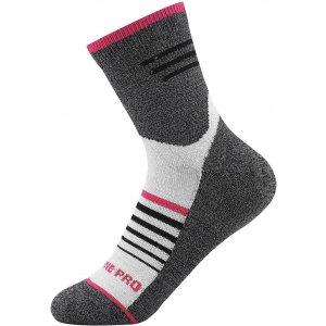 Ponožky ALPINE PRO KAIRE USCT070 ŠEDOBÍLÁ