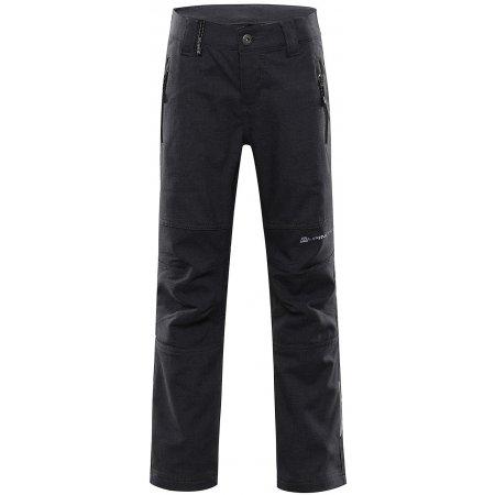 Dětské softshellové kalhoty ALPINE PRO PLATAN 4 KPAT158 ČERNÁ