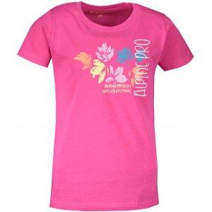 Dětské triko ALPINE PRO SPORO 3 KTST318 RŮŽOVÁ