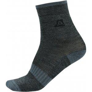Dětské ponožky ALPINE PRO WERBO KSCT019 TMAVĚ ŠEDÁ