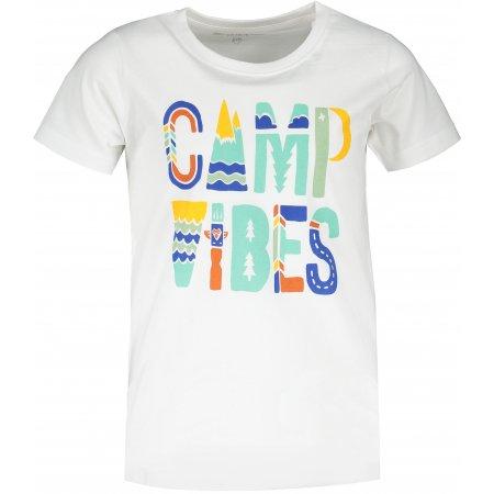 Dětské triko ALPINE PRO MATTERO 3 KTST313 BÍLÁ