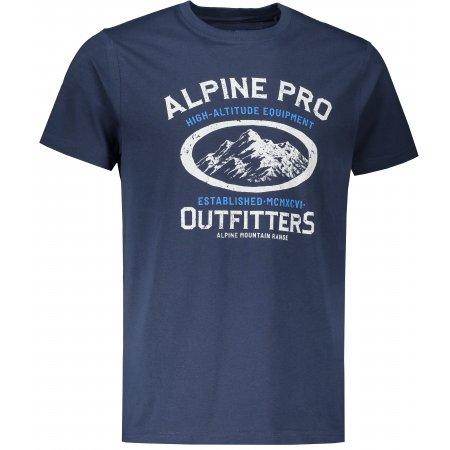 Pánské triko ALPINE PRO WENNOR MTST658 TMAVĚ MODRÁ