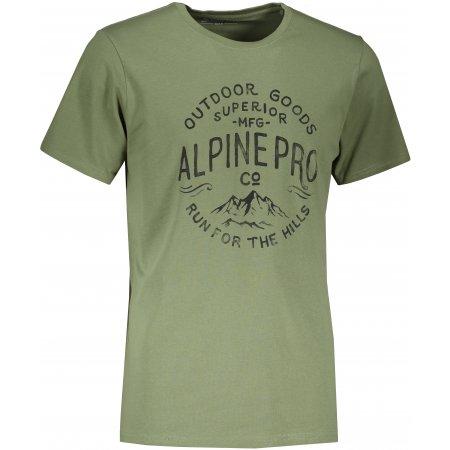 Pánské triko ALPINE PRO UNEG 9 MTST578 ZELENÁ