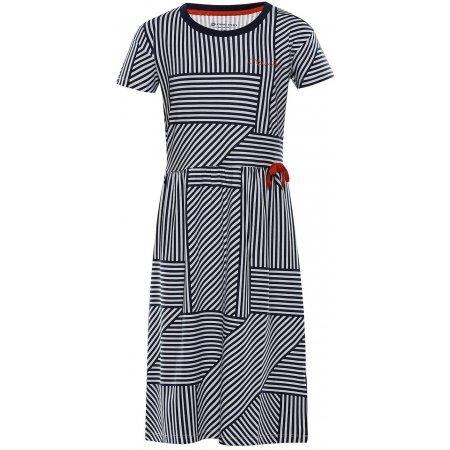 Dívčí šaty ALPINE PRO TRANGO KSKT084 TMAVĚ MODRÁ