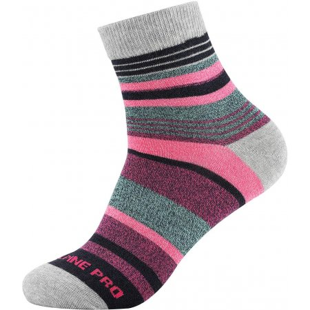 Ponožky ALPINE PRO NEFISE USCT072 ŠEDÁ/RŮŽOVÁ