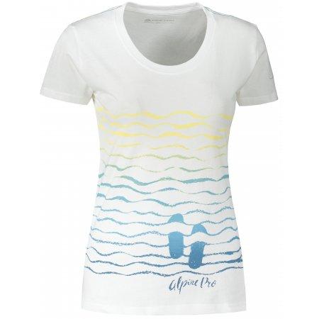 Dámské triko ALPINE PRO MARINA 2 LTST718 BÍLÁ