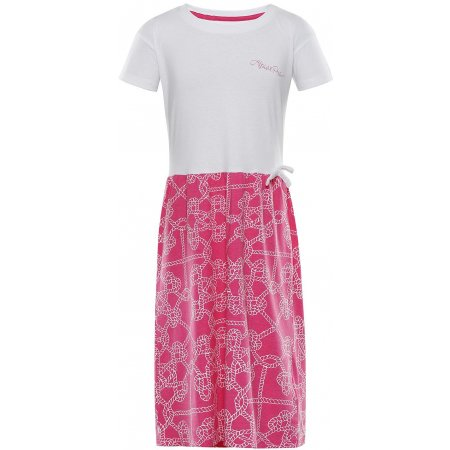 Dívčí šaty ALPINE PRO TRANGO KSKT084 RŮŽOVÁ