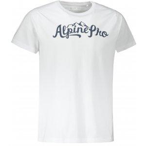 Pánské triko ALPINE PRO JUHES MTST661 BÍLÁ