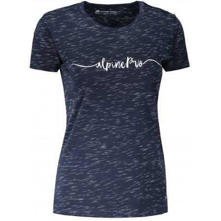 Dámské triko ALPINE PRO ROZENA 6 LTST591 TMAVĚ MODRÁ
