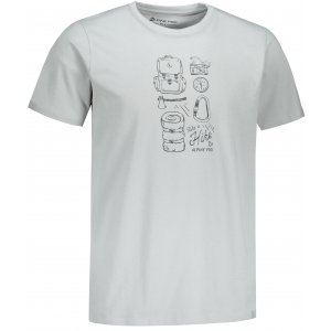 Pánské triko ALPINE PRO UNEG 9 MTST578 SVĚTLE ŠEDÁ