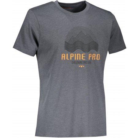 Pánské triko ALPINE PRO TIBERIO 9 MTST584 ŠEDÁ/ORANŽOVÁ