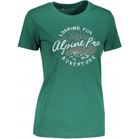 Dámské triko ALPINE PRO UNEGA 8 LTST712 ZELENÁ