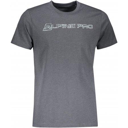 Pánské triko ALPINE PRO TIBERIO 9 MTST584 TMAVĚ ŠEDÁ