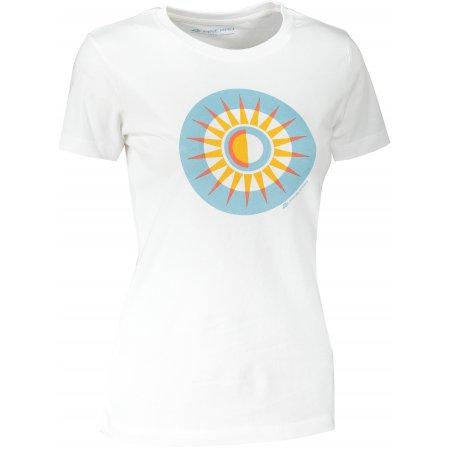 Dámské triko ALPINE PRO UNEGA 8 LTST712 BÍLÁ/MODRÁ
