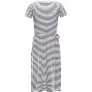 Dívčí šaty ALPINE PRO TRANGO KSKT084 SVĚTLE ŠEDÁ