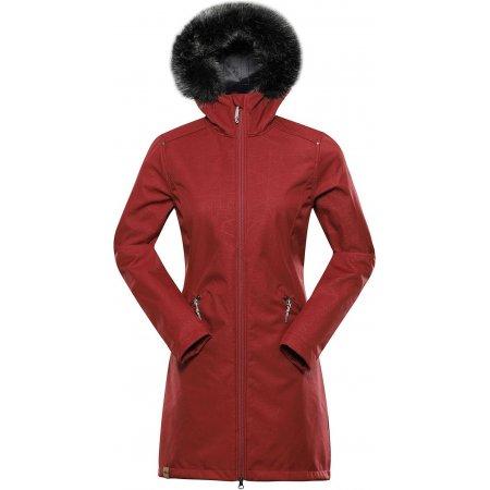 Dámský dlouhý kabát ALPINE PRO PRISCILLA 5 INS. LCTU148 CIHLOVÁ