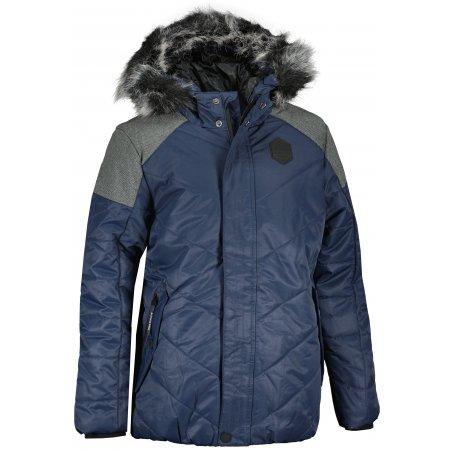Dětská zimní bunda ALPINE PRO ICYBO 5 KJCU228 TMAVĚ MODRÁ