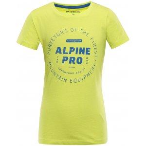 Dětské triko ALPINE PRO YVATO KTSU362 ZELENÁ